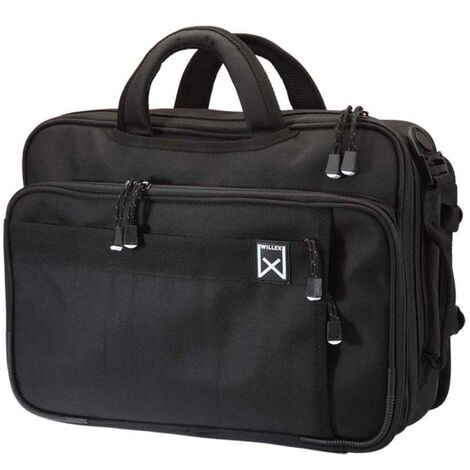Willex Bolso maletín de oficina multifuncional 15 L negro 12001 - Negro