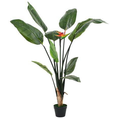 vidaXL Planta strelitzia reginae ave del paraíso artificial 155 cm - Verde