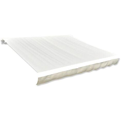vidaXL Toldo de lona color crema 4x3 m sin armazón - Crema