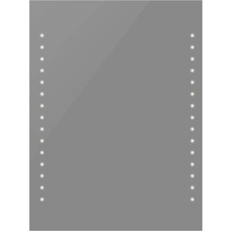 vidaXL Espejo de Pared de Baño con Luces LED 50x60 cm - Plateado