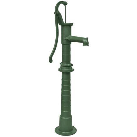vidaXL Bomba de agua de jardín con soporte hierro fundido - Verde