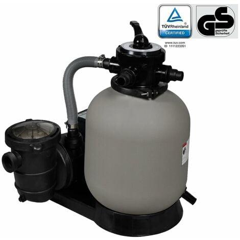 vidaXL Bomba filtro de arena 600 W 17000 l/h - Gris