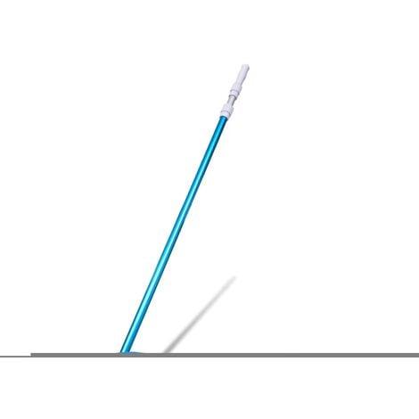 vidaXL Aspiradora de limpieza de piscinas palo telescópico y manguera - Azul
