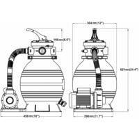 vidaXL Bomba filtro de arena 400 W 11000 l/h - Azul