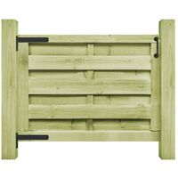 vidaXL Puerta de jardín madera de pino impregnada verde 100x75 cm - Verde