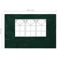 vidaXL Paredes laterales de carpa de fiesta con ventana verde 2 uds - Verde
