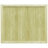 vidaXL Puertas de valla 2 uds madera de pino impregnada 300x125 cm - Verde