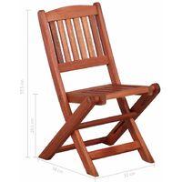 vidaXL Mesa y sillas de jardín para niños 3 pzas madera de eucalipto - Marrón