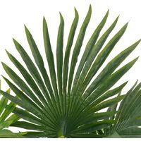 vidaXL Planta artificial palmera con macetero 70 cm verde - Verde