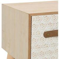 vidaXL Mueble para TV con 6 cajones madera maciza de pino 130x30x40 cm - Marrón