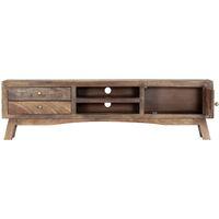 vidaXL Mueble para TV madera maciza de mango 140x30x40 cm - Gris