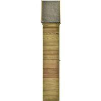 vidaXL Caseta herramientas jardín con puerta madera pino 77x28x178cm - Marrón