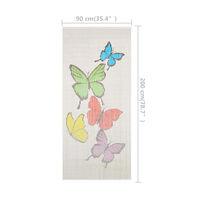 vidaXL Cortina de bambú para puerta contra insectos 90x200 cm - Multicolor