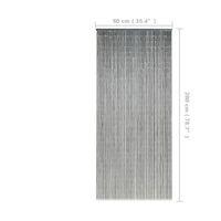 vidaXL Cortina de bambú para puerta contra insectos 90x200 cm - Gris