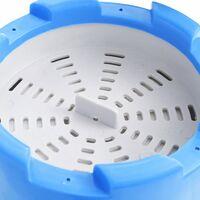 vidaXL Skimmer colgante piscina y bomba con adaptador plástico 16 cm - Blanco