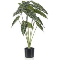 Emerald Alocasia artificial con maceta 80 cm - Verde
