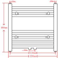 vidaXL Radiador Toallero de Baño Curvo Negro 480x480 mm - Negro