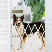 FLAMINGO Barrera extensible para perros Mont madera 107x83 cm