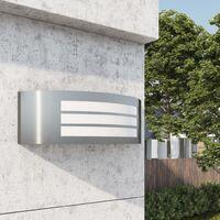 vidaXL Lámpara de pared de exterior acero inoxidable - Plateado