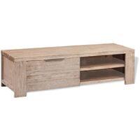 vidaXL Mueble para TV madera maciza de acacia cepillada 140x38x40 cm - Beige