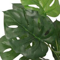 vidaXL Planta de Monstera Artificial con Maceta Verde 45 cm - Verde