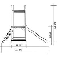 vidaXL Parque infantil de jardin con tobogán y escalera madera de pino - Multicolor