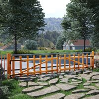 vidaXL Puerta Doble para Valla Madera de Avellano Impregnada 300x60 cm - Marrón