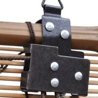 vidaXL Persiana enrollable de bambú marrón 80x220 cm - Marrón