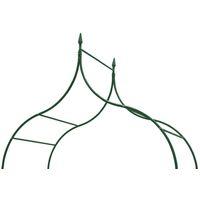 vidaXL Arcos de jardín 2 unidades para plantas trepadoras verde oscuro - Verde
