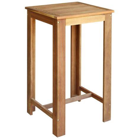 SKM Tavolino da Bar in Legno Massello di Sheesham 115x55x107cm