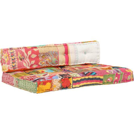Vidaxl Cuscino Per Divani Pallet Multicolore In Tessuto Patchwork Multicolore