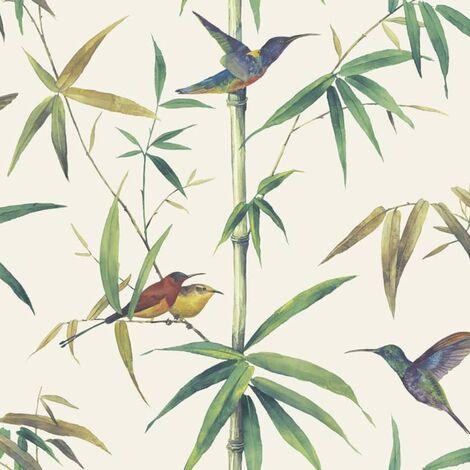 Noordwand Carta da Parati Kolibri and Bamboo Ecru