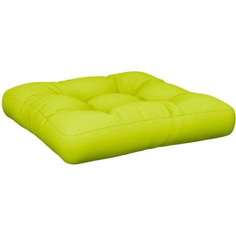 vidaXL Cuscino per Divano Pallet Verde Brillante 50x50x12 cm