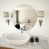 Progetto Specchio specchiera da Bagno 100x70 cm con Cornice e Lampada LED in Alluminio
