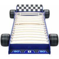 vidaXL Letto Bambini ad Auto da Corsa 90x200 cm Blu
