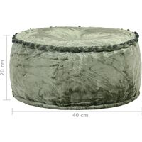 vidaXL Pouf Rotondo in Velluto 40x20 cm Verde - Verde