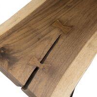 Banc bois nature Mungur pieds épingles scandi métal - Bois naturel