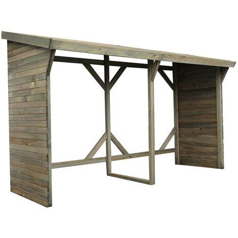 Abri bûches en bois grand modèle Ottawa 5 stères