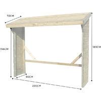Abri à bûches 2 stères en bois Belgrade