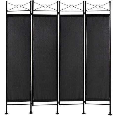 Divisor de Habitaciones, Biombo, 180 x 160 cm, Negro, Panel: 100% Poliéster
