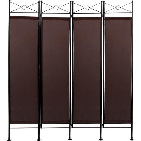 Divisor de Habitaciones, Biombo, 180 x 160 cm, Marrón, Panel: 100% Poliéster