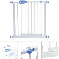 Barrera de Seguridad para Puerta Ajustable, Barrera de Seguridad para Bebés, extension to 81 to 94 cm, Blanco, Ancho: 74-87 cm