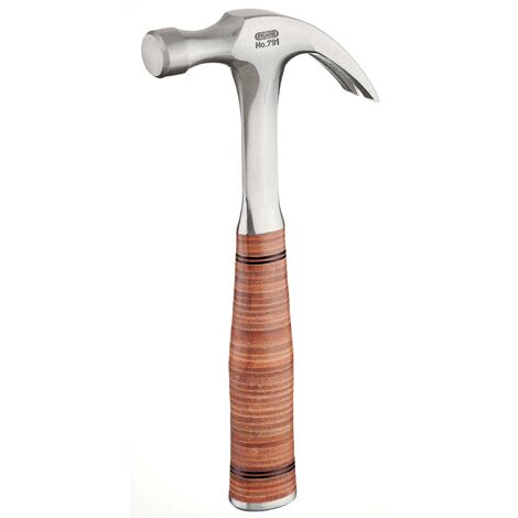 Picard Solid Forged Claw Hammer With Leather Grip Handle - 365g
