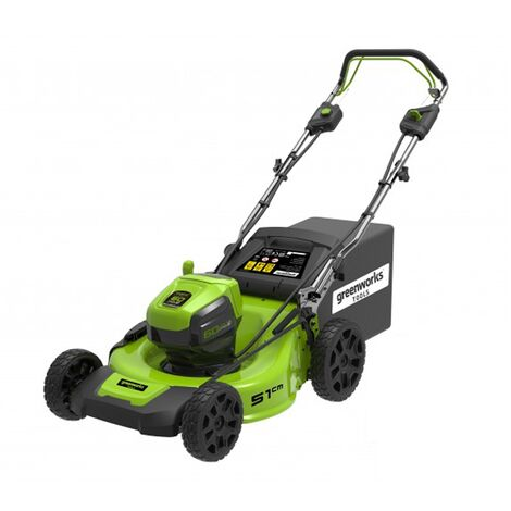 Greenworks GD60LM51SP Cordless 60v Self Propelled Lawn Mower 51cm/20in Bare Unit