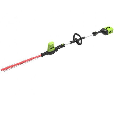Greenworks GD60PHT Cordless 60v Long Reach Hedge Trimmer 51cm/20in Bare Unit