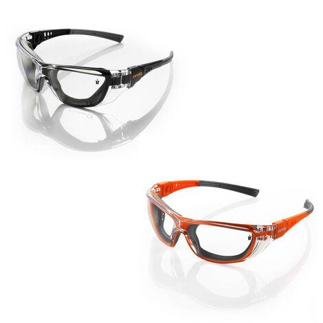 Scruffs Hawk Safety Specs Anti-Fog, UV Protection - Gun Metal Black