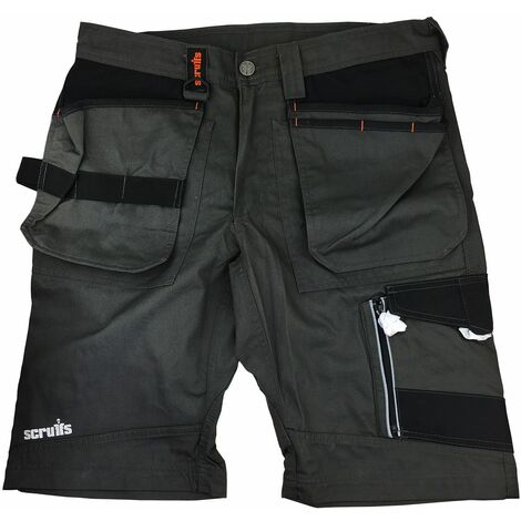 Scruffs Trade Work Shorts Slate Grey with Multiple Pockets - 40in Waist