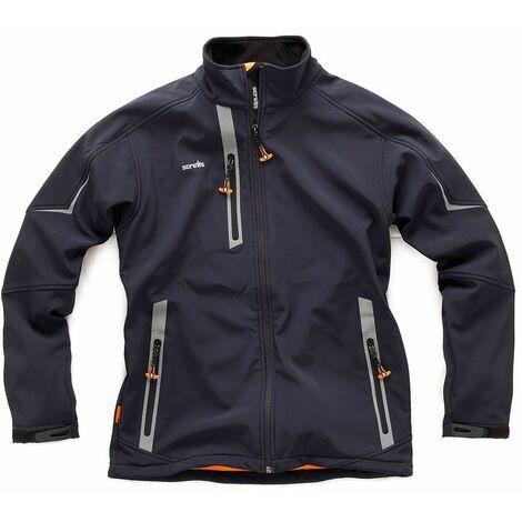 Scruffs Pro Softshell Black Waterproof Work Jacket - Large
