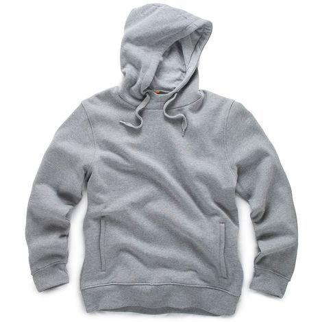 Scruffs Worker Hoodie Grey Soft and Comfortable Jumper - X-Large