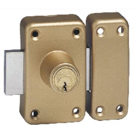 Verrou à cylindre de sûreté double Varié - Huisserie bois City 26 coloris bronze